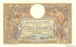 100 Francs LUC OLIVIER MERSON grands cartouches FRANCE  1929 F.24.08 SUP à SPL