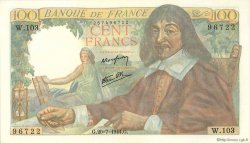100 Francs DESCARTES FRANCE  1944 F.27.06 SPL