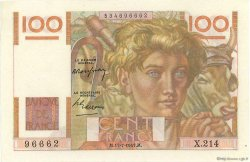 100 Francs JEUNE PAYSAN FRANCE  1947 F.28.15 SPL+