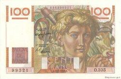 100 Francs JEUNE PAYSAN FRANCE  1949 F.28.24 pr.NEUF