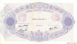 500 Francs BLEU ET ROSE modifié FRANCE  1937 F.31.01 SUP+