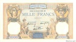 1000 Francs CÉRÈS ET MERCURE type modifié FRANCE  1940 F.38.46 SPL+