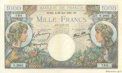 1000 Francs COMMERCE ET INDUSTRIE FRANCE  1944 F.39.09 pr.SPL