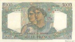 1000 Francs MINERVE ET HERCULE FRANCE  1950 F.41.33 pr.SUP