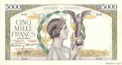 5000 Francs VICTOIRE modifié FRANCE  1938 F.45.01 TTB à SUP
