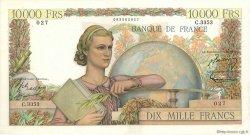 10000 Francs GÉNIE FRANÇAIS FRANCE  1952 F.50.61 pr.SUP