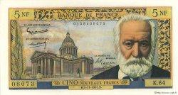 5 Nouveaux Francs VICTOR HUGO FRANCE  1961 F.56.09 pr.SPL