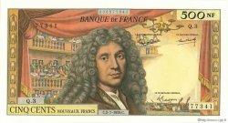 500 Nouveaux Francs MOLIÈRE FRANCE  1959 F.60.01 SPL