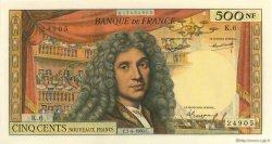 500 Nouveaux Francs MOLIÈRE FRANCE  1960 F.60.02 SPL