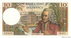 10 Francs VOLTAIRE FRANCE  1966 F.62.19 SUP