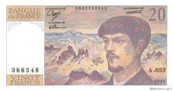 20 Francs DEBUSSY FRANCE  1989 F.66.10 NEUF
