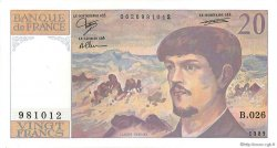 20 Francs DEBUSSY FRANCE  1989 F.66.10b SUP
