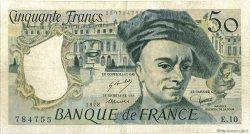 50 Francs QUENTIN DE LA TOUR FRANCE  1978 F.67.03 TB