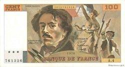 100 Francs DELACROIX modifié FRANCE  1978 F.69.01c TTB à SUP