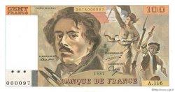 100 Francs DELACROIX modifié FRANCE  1987 F.69.11 NEUF