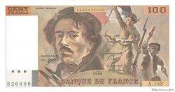 100 Francs DELACROIX imprimé en continu FRANCE  1990 F.69bis.02a SUP+