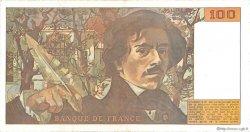 100 Francs DELACROIX imprimé en continu FRANCE  1990 F.69bis.02e1 TTB à SUP