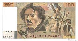 100 Francs DELACROIX imprimé en continu FRANCE  1991 F.69bis.03a2 NEUF