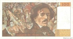 100 Francs DELACROIX imprimé en continu FRANCE  1991 F.69bis.03b1 TTB
