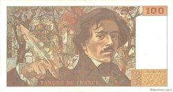 100 Francs DELACROIX imprimé en continu FRANCE  1991 F.69bis.04c TTB+