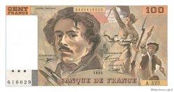 100 Francs DELACROIX imprimé en continu FRANCE  1993 F.69bis.08 NEUF