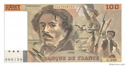 100 Francs DELACROIX 442-1 & 442-2 FRANCE  1995 F.69ter.02d NEUF