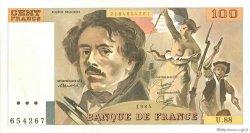 100 Francs DELACROIX modifié Uniface FRANCE  1984 F.69U.02 SUP+