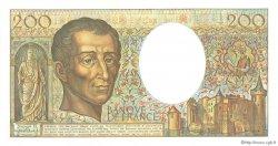 200 Francs MONTESQUIEU FRANCE  1989 F.70.09 NEUF