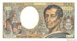 200 Francs MONTESQUIEU FRANCE  1992 F.70.12b SUP+