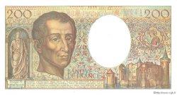 200 Francs MONTESQUIEU alphabet 101 FRANCE  1992 F.70bis.01 SUP à SPL