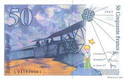 50 Francs SAINT-EXUPÉRY sans STRAP FRANCE  1997 F.72qua.04 pr.NEUF