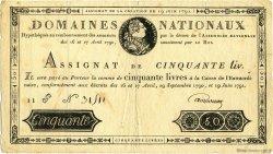 50 Livres FRANCE  1791 Muz.04 TTB