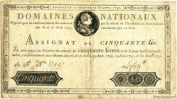 50 Livres FRANCE  1792 Muz.05 TTB
