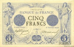 5 Francs NOIR FRANCE  1873 F.01.21 SUP+