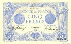 5 Francs BLEU FRANCE  1913 F.02.13 NEUF