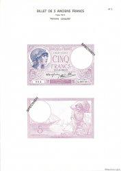 5 Francs VIOLET modifié FRANCE  1975 F.04. NEUF