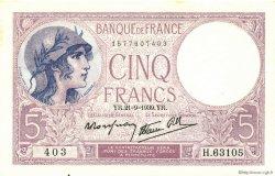 5 Francs VIOLET modifié FRANCE  1939 F.04.09 SPL