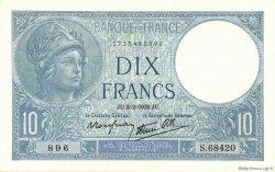 10 Francs MINERVE modifié FRANCE  1939 F.07.01 pr.NEUF