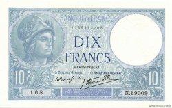 10 Francs MINERVE modifié FRANCE  1939 F.07.02 NEUF