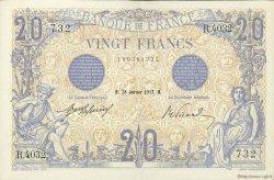 20 Francs BLEU FRANCE  1913 F.10.03 SUP