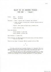20 Francs BAYARD FRANCE  1975 F.11.0 NEUF