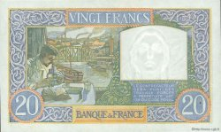 20 Francs SCIENCE ET TRAVAIL FRANCE  1941 F.12.14 SPL