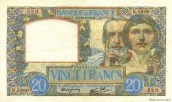 20 Francs SCIENCE ET TRAVAIL FRANCE  1941 F.12.18 SUP+