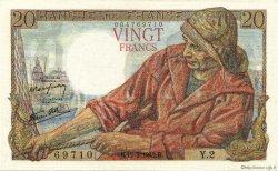 20 Francs PÊCHEUR FRANCE  1942 F.13.01 SPL