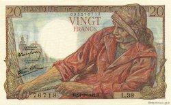 20 Francs PÊCHEUR FRANCE  1942 F.13.03 NEUF