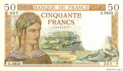 50 Francs CÉRÈS FRANCE  1937 F.17.36 SPL