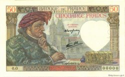50 Francs JACQUES CŒUR FRANCE  1940 F.19.00 NEUF