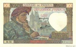 50 Francs JACQUES CŒUR FRANCE  1940 F.19.02 pr.NEUF