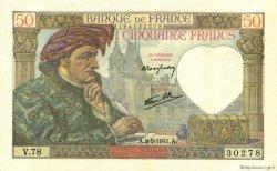 50 Francs JACQUES CŒUR FRANCE  1941 F.19.10 SPL+