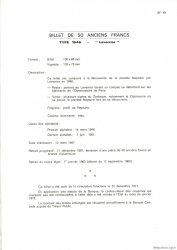 50 Francs LE VERRIER FRANCE  1975 F.20.00 NEUF